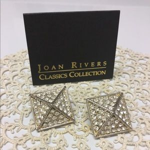 NEW! Silver Pyramid Earrings